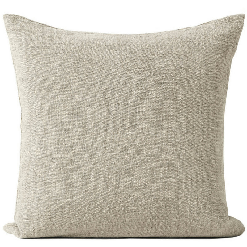 Aura | Cushion Vintage Linen 50x50cm NATURAL | Shut the Front Door