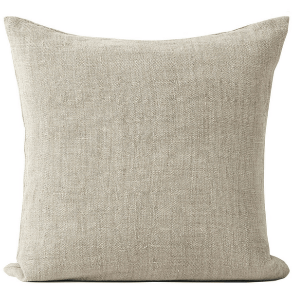 Vintage Linen Cushion in NATURAL