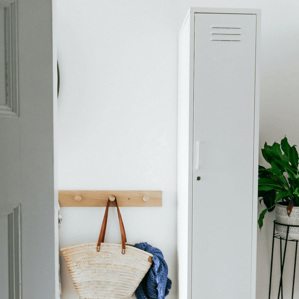 Mustard | Skinny Locker - White | Shut the Front Door