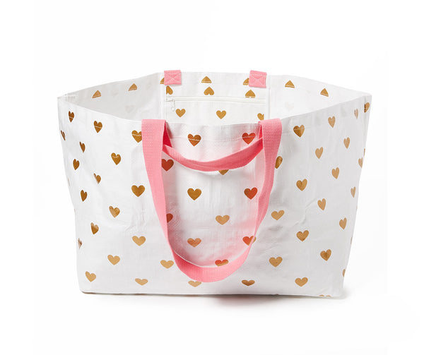 Project Ten | Oversize Tote Bag - Hearts | Shut the Front Door