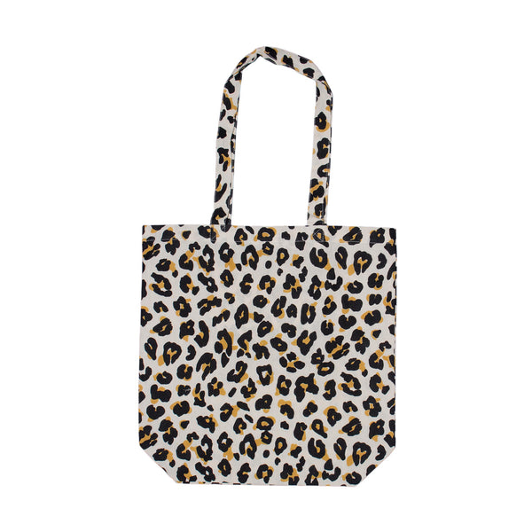 Save Planet A | Cotton Shopping Bag - Leopard | Shut the Front Door