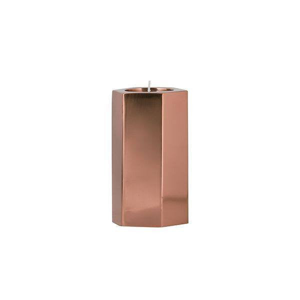General Eclectic | Hex Tealight Holder Medium COPPER | Shut the Front Door