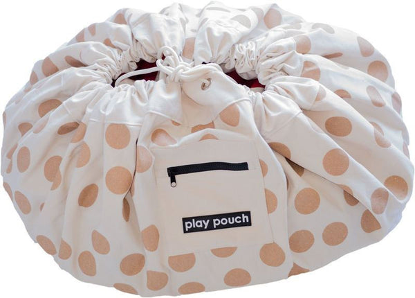 Play Pouch | Play Pouch Gold Dots | Shut the Front Door