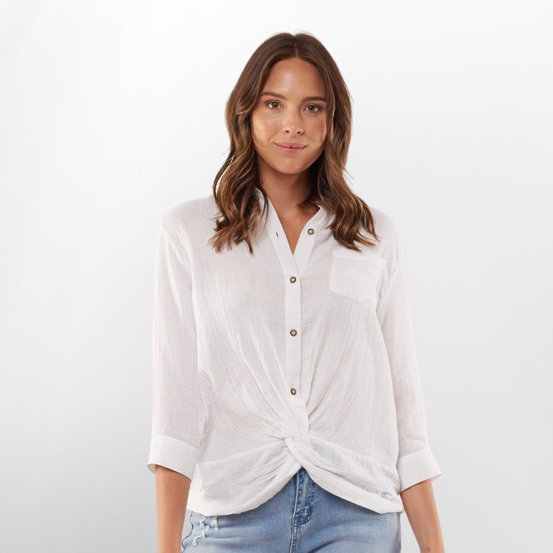 Foxwood | Ziggy Shirt - White | Shut the Front Door