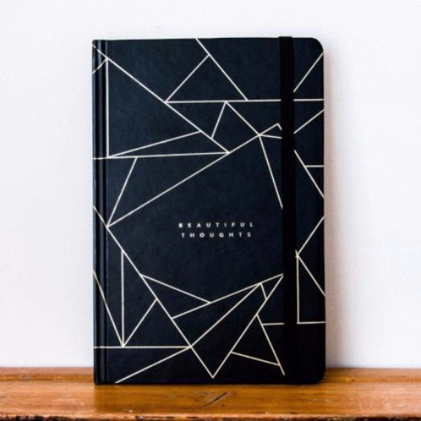 Frank | A5 Beautiful Thoughts Journal Black | Shut the Front Door