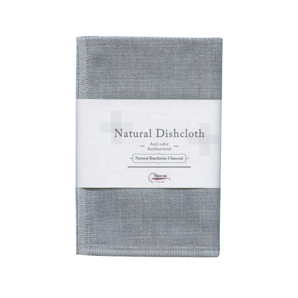 Nawrap | Natural Dishcloth - Binchoton Charcoal | Shut the Front Door