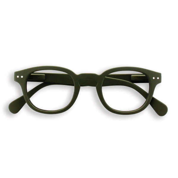 Izipizi | Reading Glasses Collection C Khaki Green +3 | Shut the Front Door