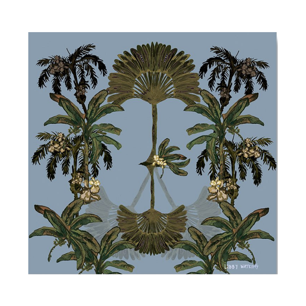 "Libby Watkins | Canvas Gypsy Palm 16"" x 16"" 