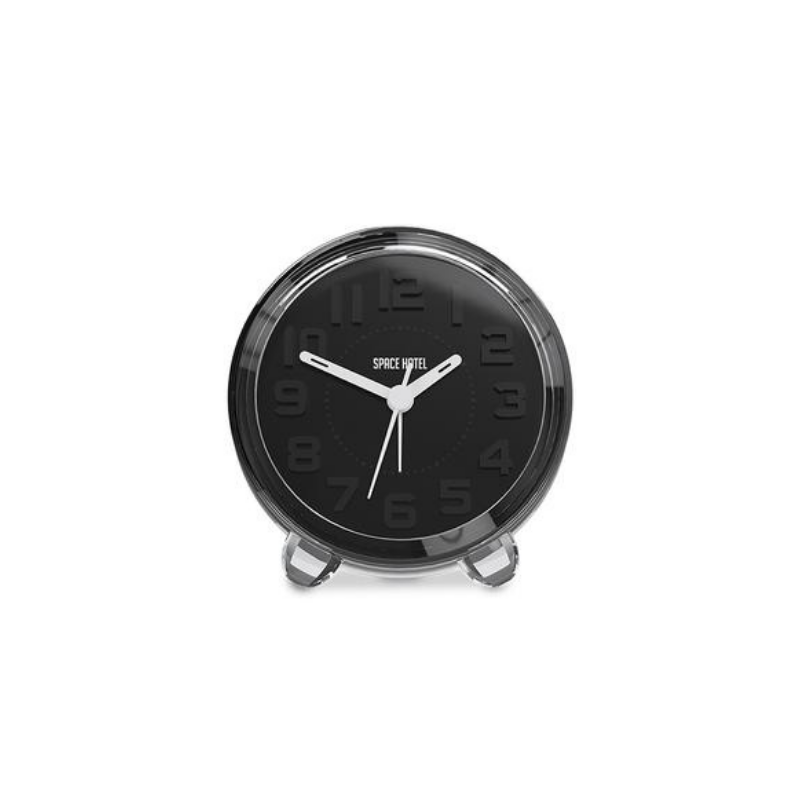 Space Hotel | Fearless Star Alarm Clock - Black | Shut the Front Door