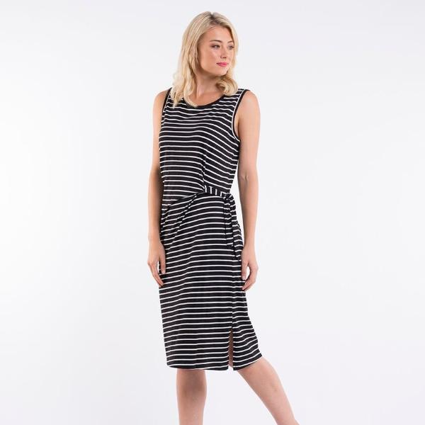 Foxwood | Bleecker Dress - Black & White Stripe | Shut the Front Door