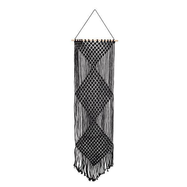 General Eclectic | Macrame Wall Decor Med BLACK | Shut the Front Door