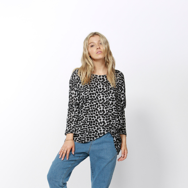 Betty Basics | Atlanta 3/4 Sleeve Top LEOPARD | Shut the Front Door