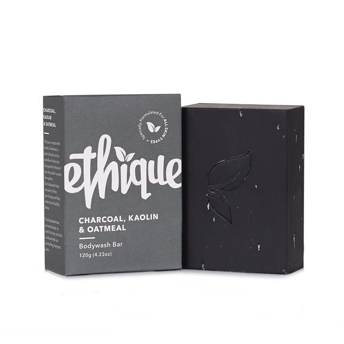 Ethique | Charcoal Kaolin & Oatmeal Bodywash Bar 120g | Shut the Front Door
