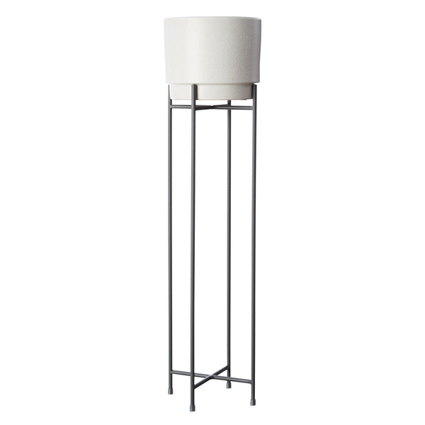 Milk & Sugar | Iris Pot Stand - Tall - Charcoal | Shut the Front Door