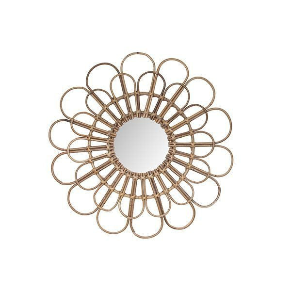 General Eclectic | FLOWER Rattan Mirror | Shut the Front Door