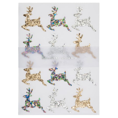 Meri Meri | Glitter Reindeer Sticker Sheets | Shut the Front Door