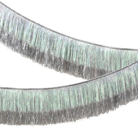 Meri Meri | Tinsel Fringe Garland - Silver Iridescent | Shut the Front Door