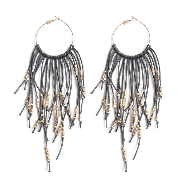 Olive Tiger | Avery Earrings Black | Shut the Front Door
