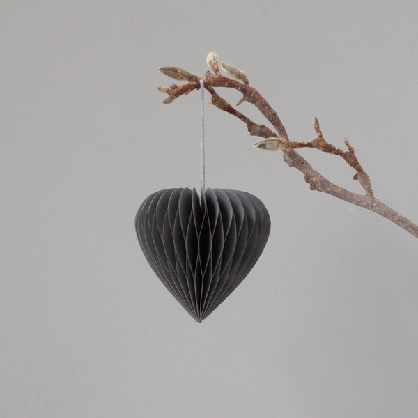 Down to the Woods | Paper Honeycomb Heart Soot Grey | Shut the Front Door