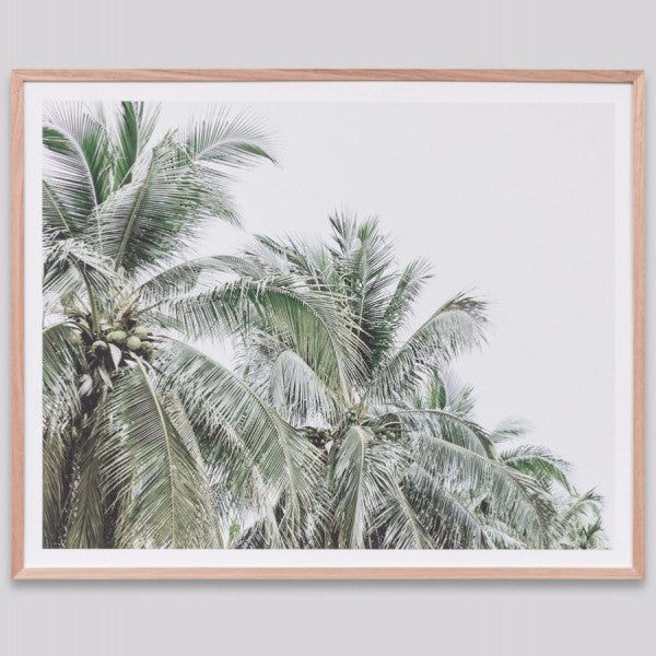 Middle of Nowhere | Framed Print Faded Palms | Shut the Front Door