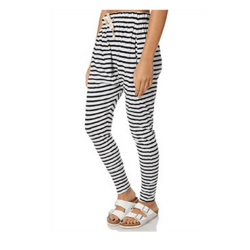 Silent Theory | Pant Fluid Stripe Black/White | Shut the Front Door