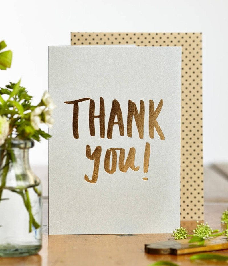 Katie Leamon | Katie Leamon - Luxe Foil Thank You | Shut the Front Door