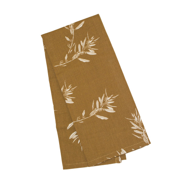 Olive Grove Tea Towel - Mustard