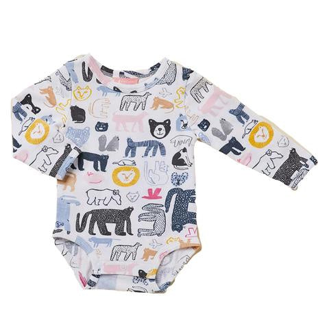 Halcyon Nights | Tashirojima - Long Sleeve Body Suit - 0-3m | Shut the Front Door