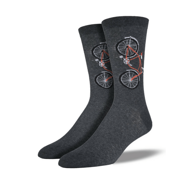 Socksmith | Socksmith Mens Bicycle Socks Charcoal | Shut the Front Door