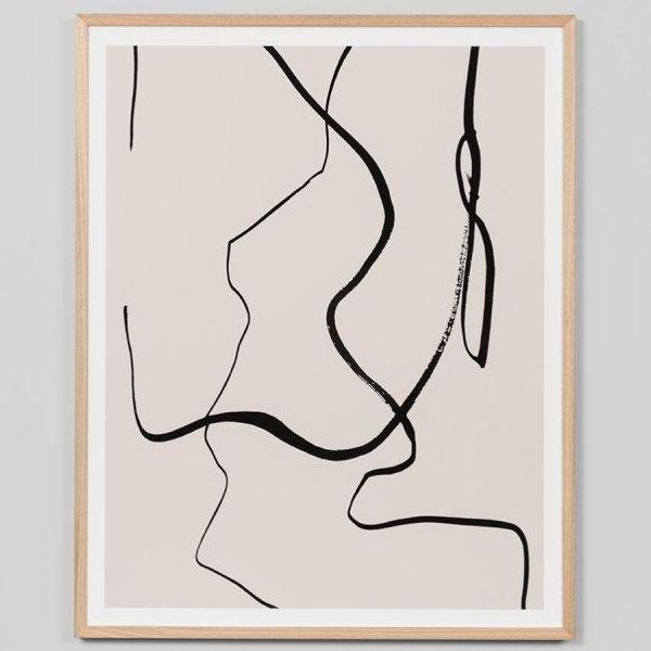 Middle of Nowhere | Framed Print - Nude Lines | Shut the Front Door