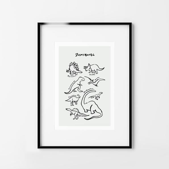 MAIKO NAGAO | Dinosaurs Print A4 * Excludes Frame | Shut the Front Door