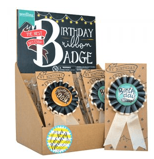 Seedling | Ribbon Badges B/day Boy | Shut the Front Door