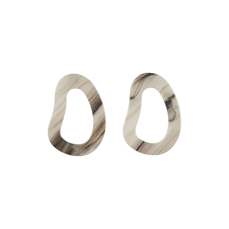 eb & ive | Mahala Oval Earring - Frost | Shut the Front Door