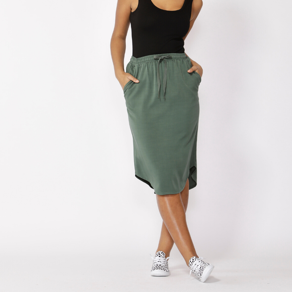 Betty Basics | Carson Skirt - Forest | Shut the Front Door