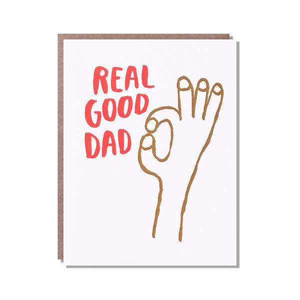 Egg Press | Fathers Day Card - Real Good Dad | Shut the Front Door