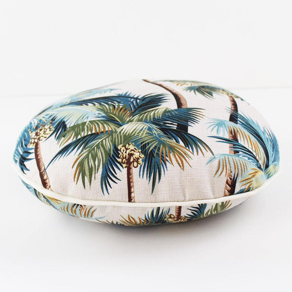 Escape to Paradise | Round Outdoor Cushion - Palm Trees | Shut the Front Door