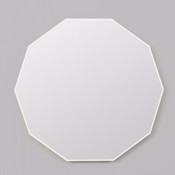 Middle of Nowhere | Flynn Geo Mirror WHITE 90 x 90cm | Shut the Front Door