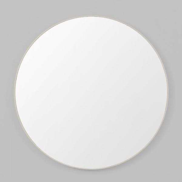 Middle of Nowhere | Flynn Round Mirror 80cm Light Grey | Shut the Front Door