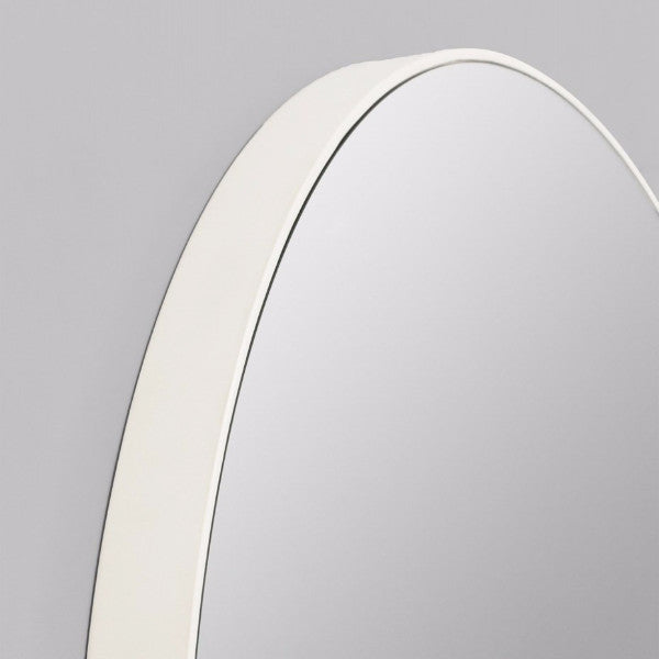 Middle of Nowhere | Flynn Round Mirror 50cm WHITE | Shut the Front Door