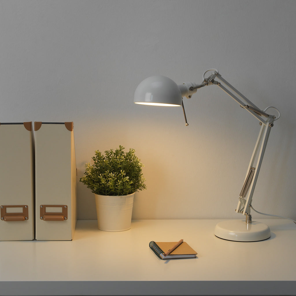 IKEA | Forsa Work Lamp - White | Shut the Front Door
