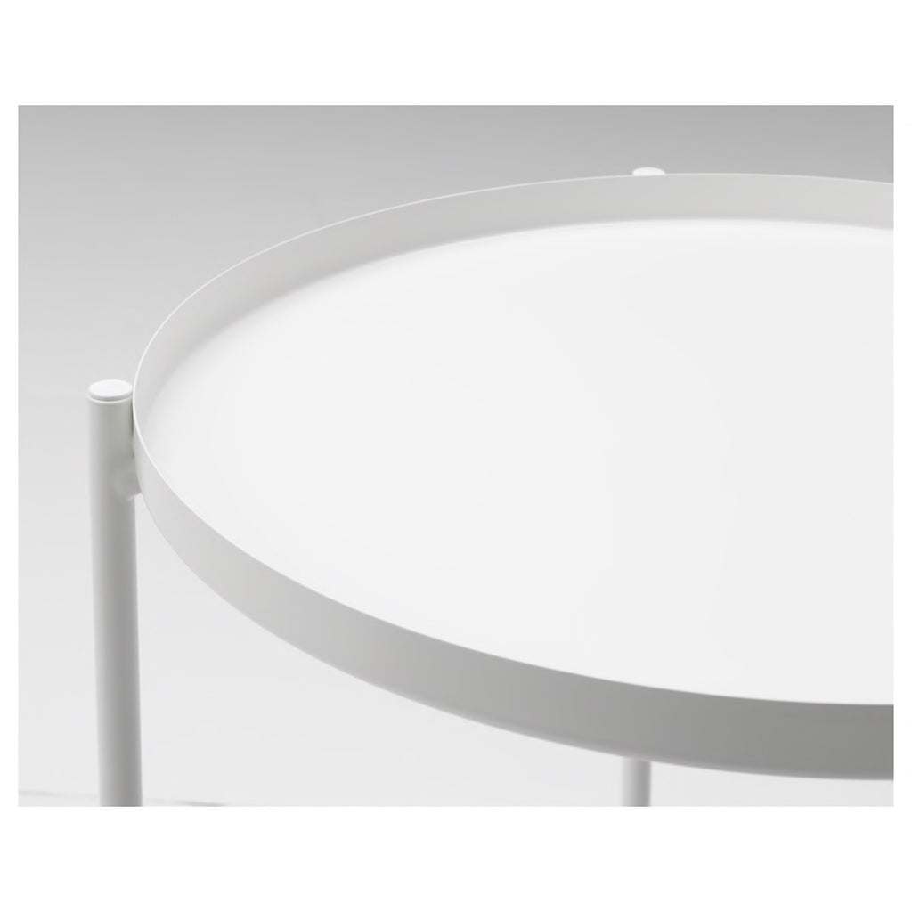 Not specified | Metal Tray Table - White | Shut the Front Door