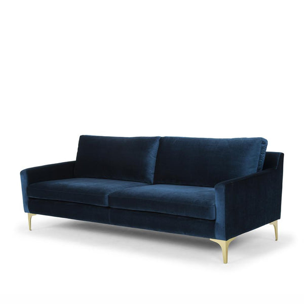 Me & My Trend | Hugo 3 Seat Velvet Sofa - Blue | Shut the Front Door