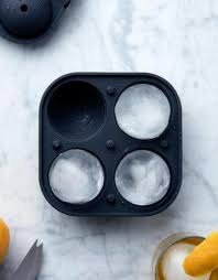 Peak | Sphere Ice Mold - Marble Black | Shut the Front Door