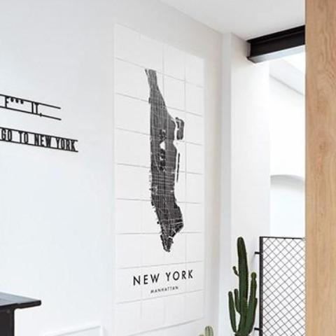 Ixxi | IXXI Artwork New York City Map 60cm x 140cm | Shut the Front Door