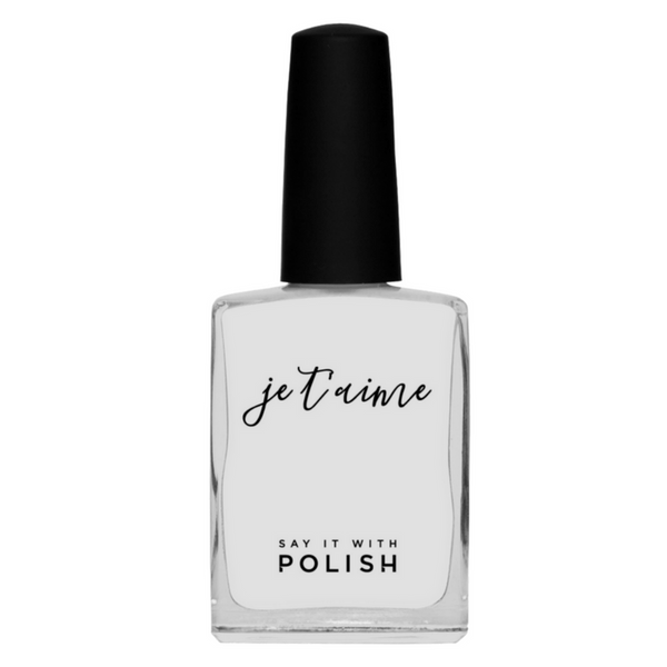 Say It With Polish | Nail Polish - Je Taime - Clear Top Coat | Shut the Front Door