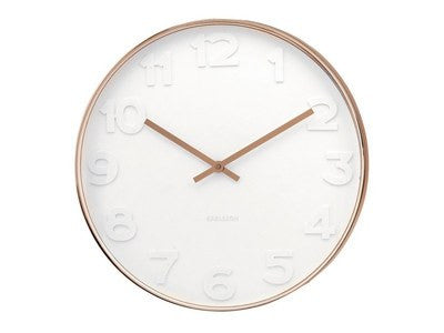 Karlsson | Wall Clock Mr White #COPPER SM | Shut the Front Door