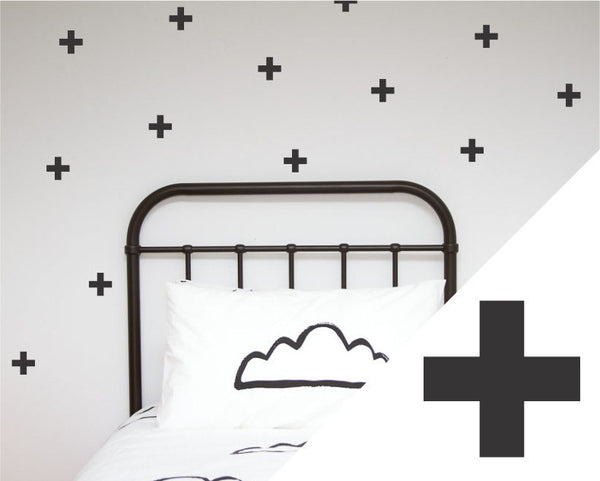100PercentHeart | Wall Sticker Crosses Large BLK | Shut the Front Door