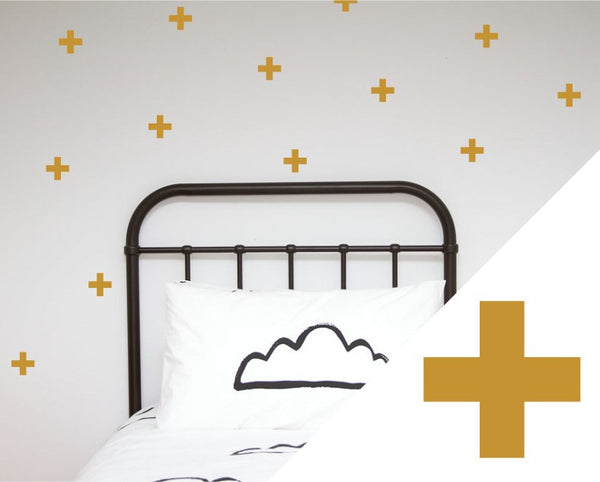 100PercentHeart | Wall Sticker Crosses Large Gold | Shut the Front Door