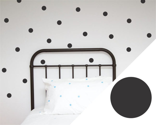 100PercentHeart | Wall Stickers Dots Large Black | Shut the Front Door