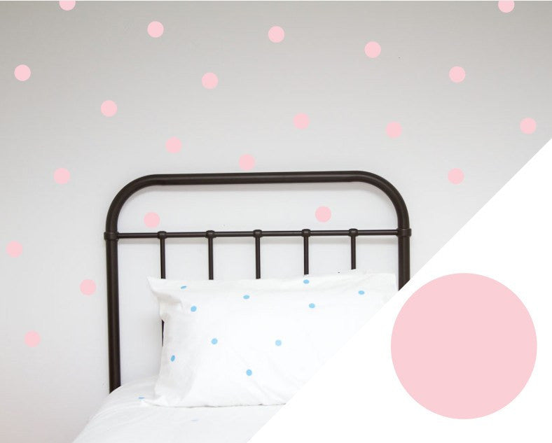 100PercentHeart | Dots Large Pale Pink Wall Stickers | Shut the Front Door